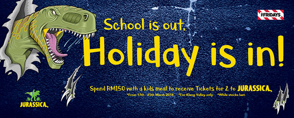 TGI Fridays School is out, Holiday is in!