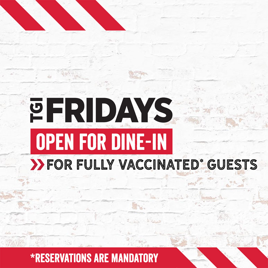 Open for Dine-in for Fully Vaccinated Guests